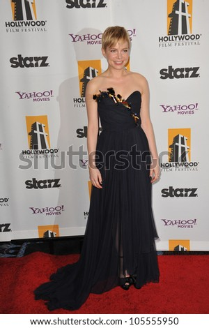 LOS ANGELES, CA - OCTOBER 24, 2011: Michelle Williams at the 15th Annual Hollywood Film Awards Gala at the Beverly Hilton Hotel. October 24, 2011  Beverly Hills, CA - stock photo