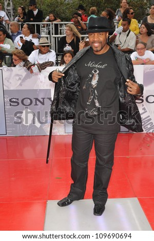 "LOS ANGELES, CA - OCTOBER 27, 2009: Music director Michael Bearden at the premiere of Michael Jackson's ""This Is It"" at the Nokia Theatre, L.A. Live. - stock photo"