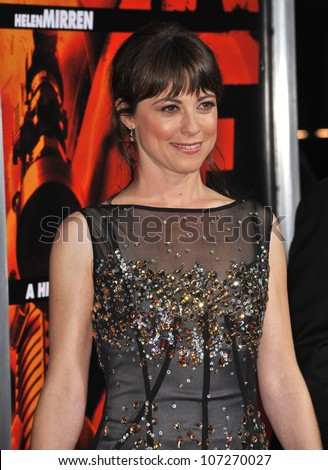 "LOS ANGELES, CA - OCTOBER 11, 2010: Rebecca Pigeon at the premiere of her new movie ""Red"" at Grauman's Chinese Theatre, Hollywood."