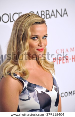LOS ANGELES, CA - OCTOBER 21, 2014: Reese Witherspoon at the 28th Annual American Cinematheque Award Gala honoring Matthew McConaughey at the Beverly Hilton Hotel.