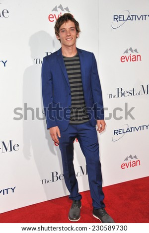 "LOS ANGELES, CA - OCTOBER 7, 2014: Robby Rasmussen at the world premiere of his movie ""The Best of Me"" at the Regal Cinemas LA Live.  - stock photo"