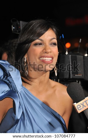 "LOS ANGELES, CA - OCTOBER 26, 2010: Rosario Dawson at the world premiere of her new movie ""Unstoppable"" at the Regency Village Theatre, Westwood."