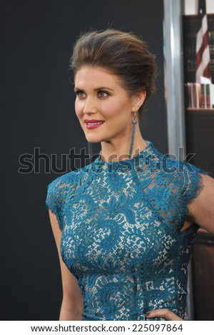 """LOS ANGELES, CA - OCTOBER 1, 2014: Sarah Lancaster at the Los Angeles premiere of her movie """"The Judge"""" at the Samuel Goldwyn Theatre, Beverly Hills.  - stock photo"""