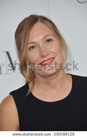 "LOS ANGELES, CA - OCTOBER 7, 2014: Schuyler Fisk at the world premiere of her movie ""The Best of Me"" at the Regal Cinemas LA Live."