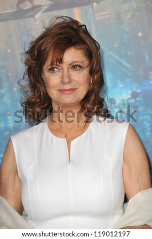 "LOS ANGELES, CA - OCTOBER 24, 2012: Susan Sarandon at the Los Angeles premiere of ""Cloud Atlas"" at Grauman's Chinese Theatre, Hollywood."