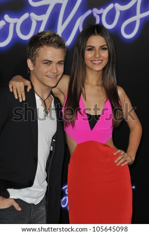 "LOS ANGELES, CA - OCTOBER 3, 2011: Victoria Justice & Hunter Hayes at the Los Angeles premiere of ""Footloose"" at the Regency Village Theatre, Westwood, CA. October 3, 2011  Los Angeles, CA"
