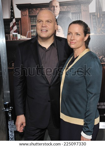 """LOS ANGELES, CA - OCTOBER 1, 2014: Vincent D'Onofrio at the Los Angeles premiere of his movie """"The Judge"""" at the Samuel Goldwyn Theatre, Beverly Hills.  - stock photo"""