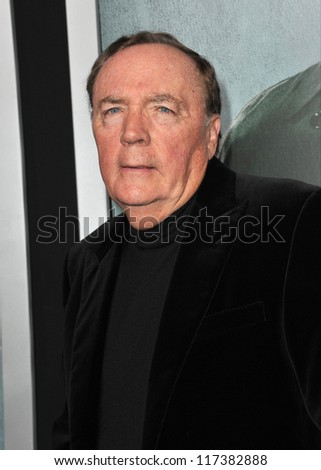 "LOS ANGELES, CA - OCTOBER 15, 2012: Writer James Patterson at the Los Angeles premiere of his movie ""Alex Cross"" at the Cinerama Dome, Hollywood."
