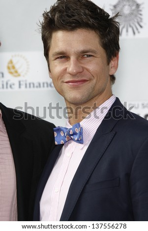 LOS ANGELES, CA - SEP 25: David Burtka at the IRIS, A Journey Through the World of Cinema by Cirque du Soleil premiere September 25, 2011 at Kodak Theater in Los Angeles, California - stock photo