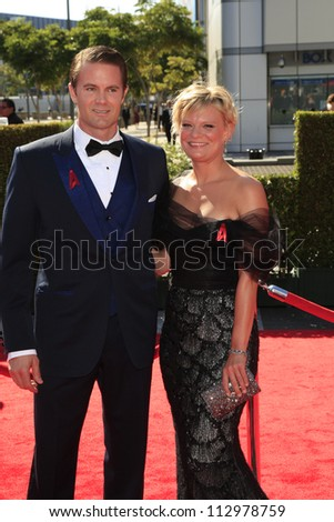 LOS ANGELES, CA - SEP 15: Garret Dillahunt, Martha Plimpton at the Academy Of Television Arts & Sciences 2012 Creative Arts Emmy Awards at Nokia Theater on September 15, 2012 in Los Angeles, CA