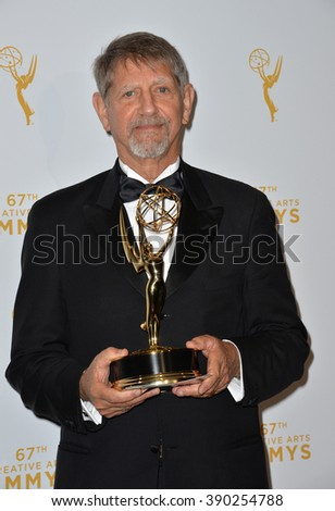 LOS ANGELES, CA - SEPTEMBER 12, 2015: Actor Peter Coyote in the press room at the Creative Arts Emmy Awards 2015 at the Microsoft Theatre LA Live.