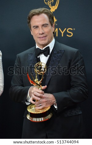 LOS ANGELES, CA. September 18, 2016: Actor/producer John Travolta at the 68th Primetime Emmy Awards at the Microsoft Theatre L.A. Live.