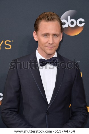 LOS ANGELES, CA. September 18, 2016: Actor Tom Hiddleston at the 68th Primetime Emmy Awards at the Microsoft Theatre L.A. Live.