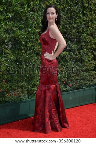 LOS ANGELES, CA - SEPTEMBER 12, 2015: Actress Annie Wersching at the Creative Arts Emmy Awards 2015 at the Microsoft Theatre LA Live.