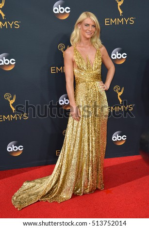 LOS ANGELES, CA. September 18, 2016: Actress Claire Danes at the 68th Primetime Emmy Awards at the Microsoft Theatre L.A. Live.