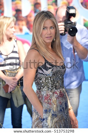 "LOS ANGELES, CA. September 17, 2016: Actress Jennifer Aniston at the world premiere of ""Storks"" at the Regency Village Theatre, Westwood."