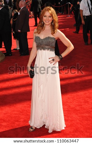 LOS ANGELES, CA - SEPTEMBER 20, 2009: Alicia Witt at the 61st Primetime Emmy Awards at the Nokia Theatre L.A. Live.