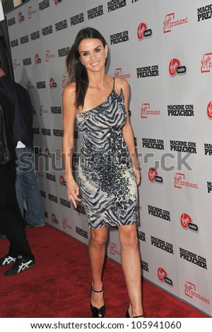"LOS ANGELES, CA - SEPTEMBER 21, 2011: Ana Alexander at the Los Angeles premiere of ""Machine Gun Preacher"" at the Samuel Goldwyn Theatre, Beverly Hills. September 21, 2011  Los Angeles, CA - stock photo"