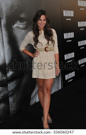 "LOS ANGELES, CA - SEPTEMBER 6, 2011: Ana Ayora at the world premiere of ""Warrior"" at the Arclight Theatre, Hollywood. September 6, 2011  Los Angeles, CA"