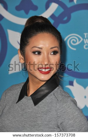 LOS ANGELES, CA - SEPTEMBER 9, 2013: Brenda Song at the Fox TV Fall Eco-Casino Party 2013 at The Bungalow, Santa Monica.  - stock photo