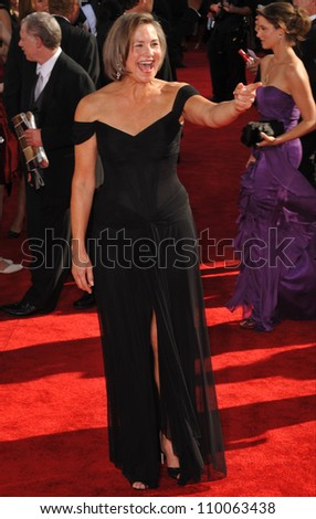 LOS ANGELES, CA - SEPTEMBER 20, 2009: Cherry Jones at the 61st Primetime Emmy Awards at the Nokia Theatre L.A. Live.