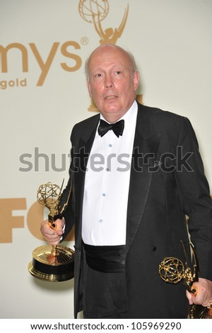 LOS ANGELES, CA - SEPTEMBER 18, 2011: Downton Abbey creator Julian Fellowes at the 2011 Primetime Emmy Awards at the Nokia Theatre L.A. Live. September 18, 2011  Los Angeles, CA