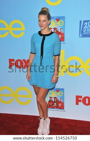 "LOS ANGELES, CA - SEPTEMBER 12, 2012: Heather Morris at the season four premiere of ""Glee"" at Paramount Studios, Hollywood. - stock photo"
