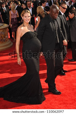 LOS ANGELES, CA - SEPTEMBER 20, 2009: Heidi Klum & husband Seal at the 61st Primetime Emmy Awards at the Nokia Theatre L.A. Live.