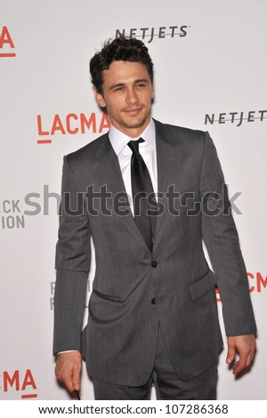LOS ANGELES, CA - SEPTEMBER 25, 2010: James Franco at a benefit gala at  LACMA for the opening of  The Lynda & Stewart Resnick Exhibition Pavilion in Los Angeles, CA. - stock photo