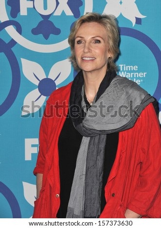 LOS ANGELES, CA - SEPTEMBER 9, 2013: Jane Lynch at the Fox TV Fall Eco-Casino Party 2013 at The Bungalow, Santa Monica.  - stock photo
