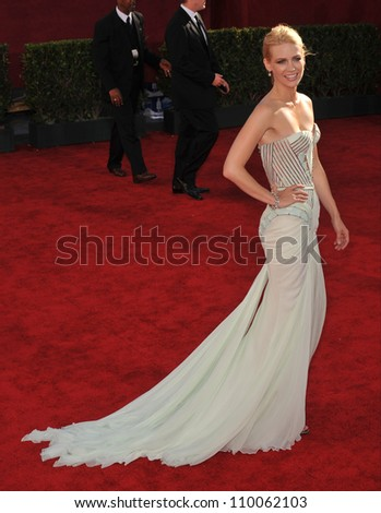 LOS ANGELES, CA - SEPTEMBER 20, 2009: January Jones at the 61st Primetime Emmy Awards at the Nokia Theatre L.A. Live.