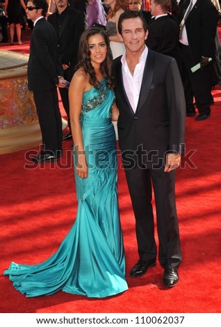 LOS ANGELES, CA - SEPTEMBER 20, 2009: Jeff Probst & date at the 61st Primetime Emmy Awards at the Nokia Theatre L.A. Live.