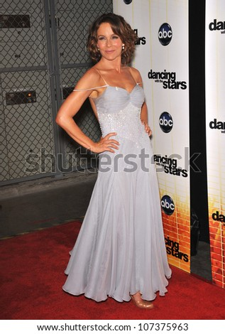 LOS ANGELES, CA - SEPTEMBER 20, 2010: Jennifer Grey at the Season 11 premiere of ABC's Dancing With The Stars at CBS Television City, Los Angeles.