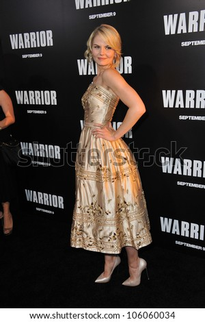 "LOS ANGELES, CA - SEPTEMBER 6, 2011: Jennifer Morrison at the world premiere of her new movie ""Warrior"" at the Arclight Theatre, Hollywood. September 6, 2011  Los Angeles, CA"