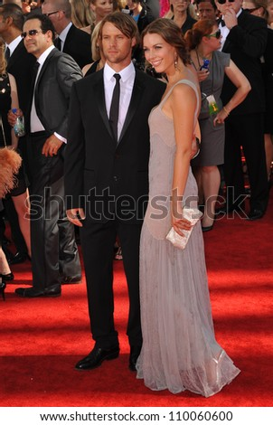 LOS ANGELES, CA - SEPTEMBER 20, 2009: Jesse Spencer & Louise Griffiths at the 61st Primetime Emmy Awards at the Nokia Theatre L.A. Live.