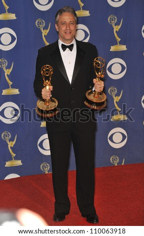 LOS ANGELES, CA - SEPTEMBER 20, 2009: Jon Stewart at the 61st Primetime Emmy Awards at the Nokia Theatre L.A. Live.