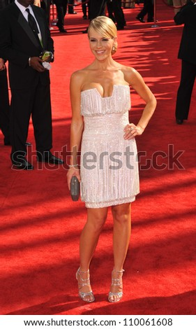 LOS ANGELES, CA - SEPTEMBER 20, 2009: Julie Benz at the 61st Primetime Emmy Awards at the Nokia Theatre L.A. Live.