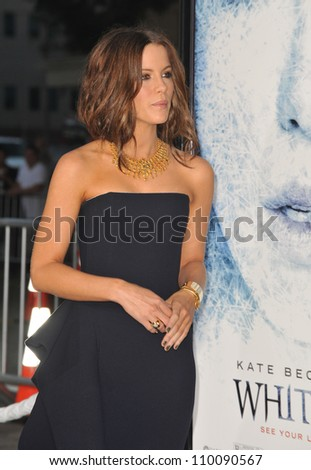 "LOS ANGELES, CA - SEPTEMBER 9, 2009: Kate Beckinsale at the Los Angeles premiere of her new movie ""Whiteout"" at Mann Village Theatre, Westwood."