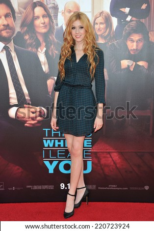 """LOS ANGELES, CA - SEPTEMBER 15, 2014: Katherine McNamara at the Los Angeles premiere of """"This Is Where I Leave You"""" at the TCL Chinese Theatre, Hollywood.  - stock photo"""