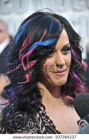 LOS ANGELES, CA - SEPTEMBER 12, 2010: Katy Perry at the 2010 MTV Video Music Awards at the Nokia Theatre L.A. Live in downtown Los Angeles.