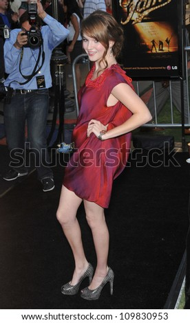 "LOS ANGELES, CA - SEPTEMBER 23, 2009: Kay Panabaker at the Los Angeles premiere of her new movie ""Fame"" at The Grove Theatre, Los Angeles."
