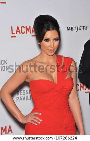 LOS ANGELES, CA - SEPTEMBER 25, 2010: Kim Kardashian at a benefit gala at  LACMA for the opening of  The Lynda & Stewart Resnick Exhibition Pavilion in Los Angeles, CA. - stock photo