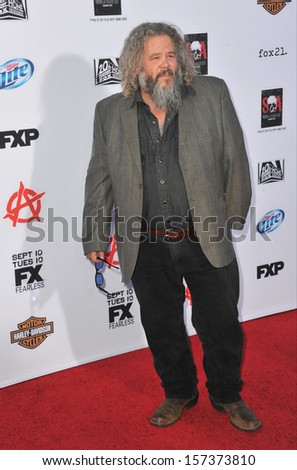 """LOS ANGELES, CA - SEPTEMBER 7, 2013: Mark Boone Jr. at the season 6 premiere of """"Sons of Anarchy"""" at the Dolby Theatre, Hollywood.  - stock photo"""