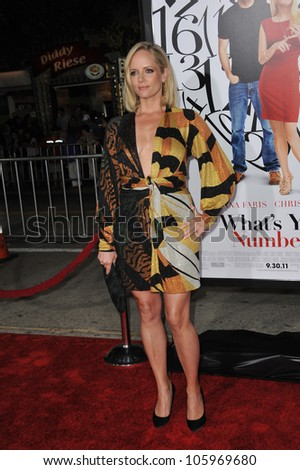 "LOS ANGELES, CA - SEPTEMBER 19, 2012: Marley Shelton at the Los Angeles premiere of ""What's Your Number?"" at the Regency Village Theatre, Westwood. September 19, 2011  Los Angeles, CA"