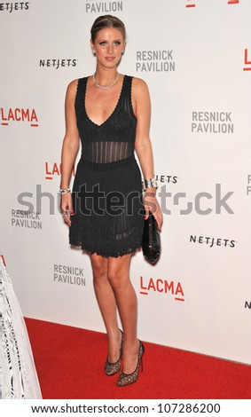 LOS ANGELES, CA - SEPTEMBER 25, 2010: Nicky Hilton at a benefit gala at  LACMA for the opening of  The Lynda & Stewart Resnick Exhibition Pavilion in Los Angeles, CA.