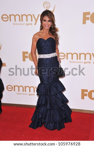 LOS ANGELES, CA - SEPTEMBER 18, 2011: Paula Abdul at the 2011 Primetime Emmy Awards at the Nokia Theatre, L.A. Live. September 18, 2011  Los Angeles, CA