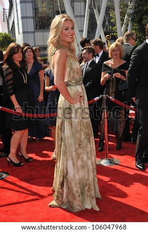 LOS ANGELES, CA - SEPTEMBER 10, 2011: Rebecca Romijn at the 2011 Primetime Creative Arts Emmy Awards at the Nokia Theatre L.A. Live. September 10, 2011  Los Angeles, CA