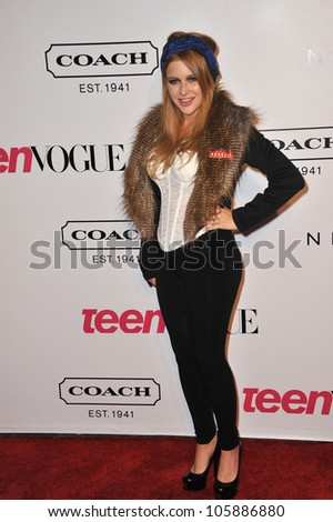 LOS ANGELES, CA - SEPTEMBER 23, 2011: Renee Olstead at the 9th Annual Teen Vogue Young Hollywood Party at Paramount Studios, Hollywood. September 23, 2011  Los Angeles, CA - stock photo