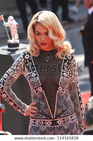 LOS ANGELES, CA - SEPTEMBER 6, 2012: Rita Ora at the 2012 MTV Video Music Awards at Staples Center, Los Angeles.