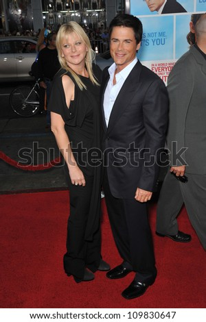 "LOS ANGELES, CA - SEPTEMBER 21, 2009: Rob Lowe & wife Sheryl Berkoff at the U.S. premiere of his new movie ""The Invention on Lying"" at Grauman's Chinese Theatre, Hollywood."